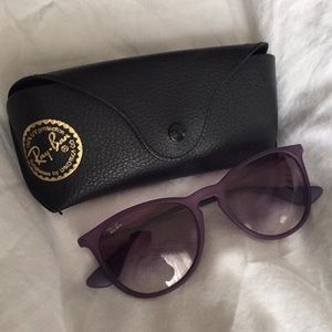 Purple Erika ray ban with case